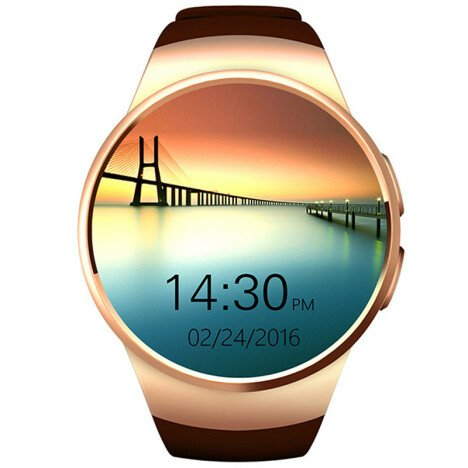 Ceas Smartwatch cu Telefon iUni KW18, Touchscreen, 1.3 Inch HD, Notificari, iOS si Android, Gold